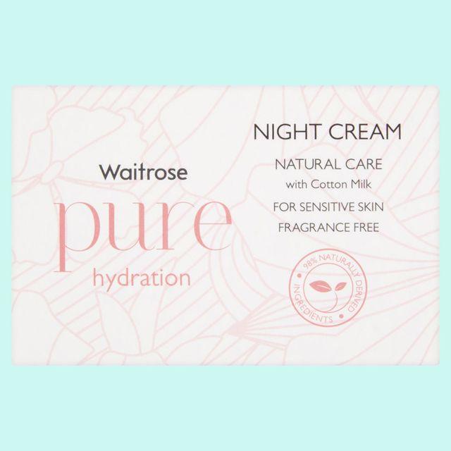 waitrose pure hydration night cream review