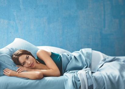overnight beauty boosters; woman sleeping