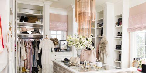 Rachel Parcell Of Pink Peonies Walk In Closet