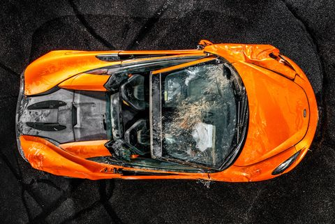 What Happened When a McLaren 570S Flew off the Road, Rolled Twice, and Landed 297 Feet Down