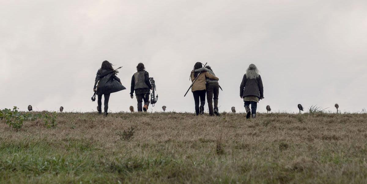the walking dead cabezas en picas