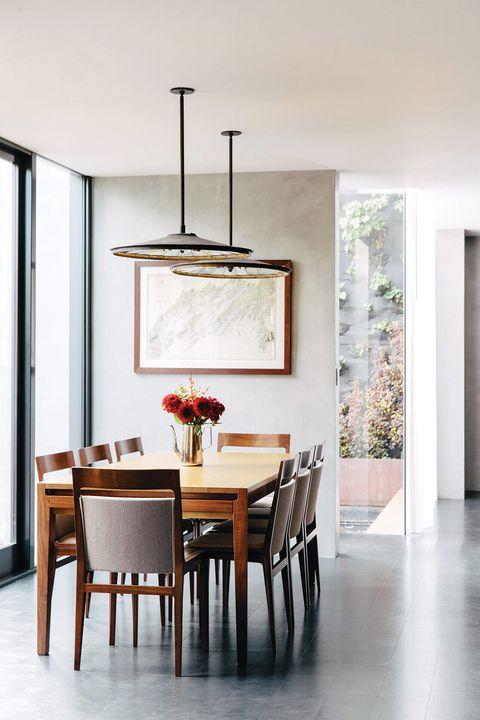 contemporary concrete dining room