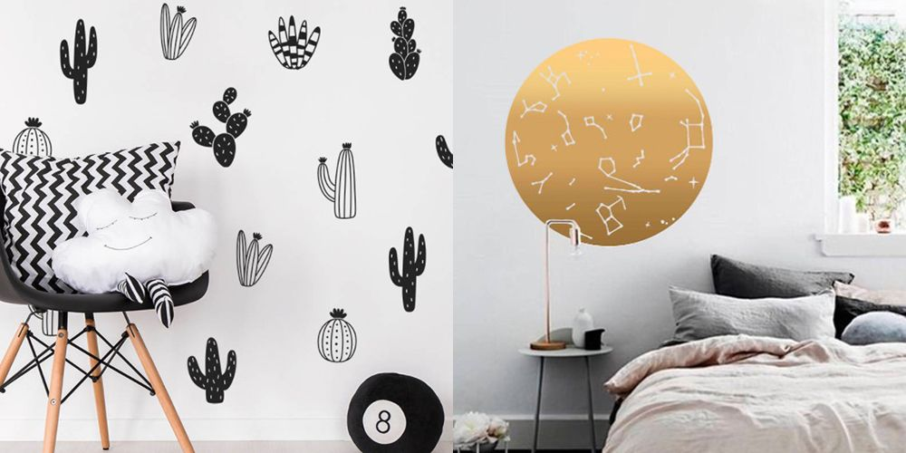 14 actually cool wall art stickers for when you're not allowed to drill the walls