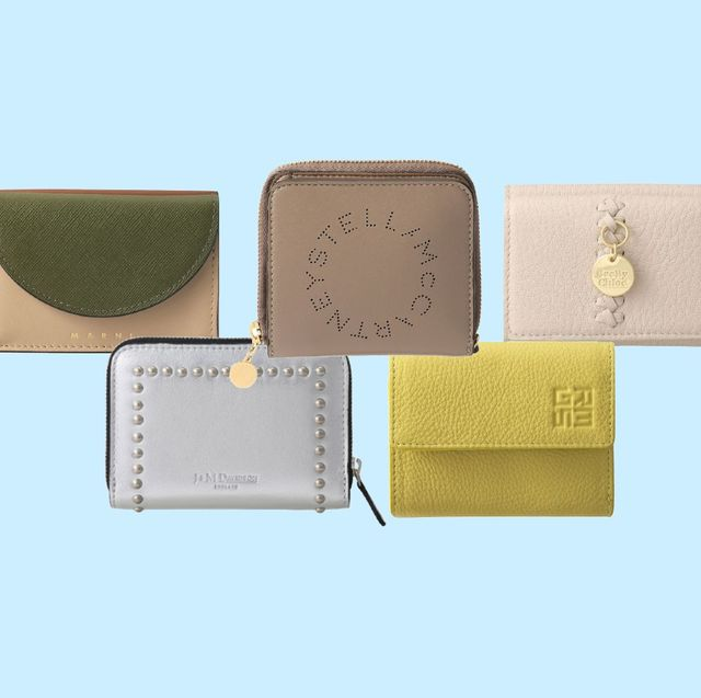 Wallet, Beige, Rectangle, Leather, Paper product,