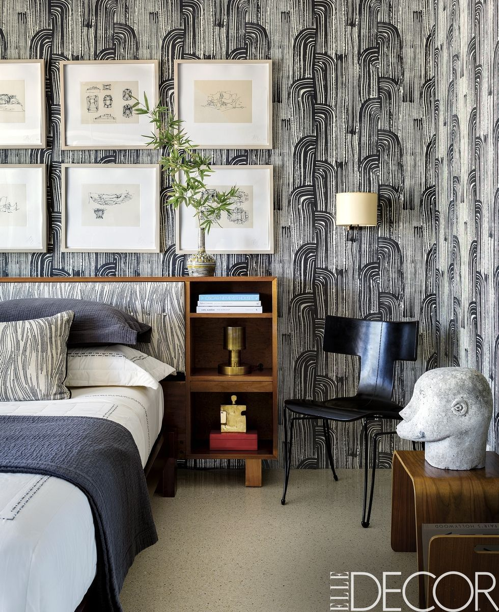 12 Chic Ways to Use Textured Wallpaper in YourHome foto