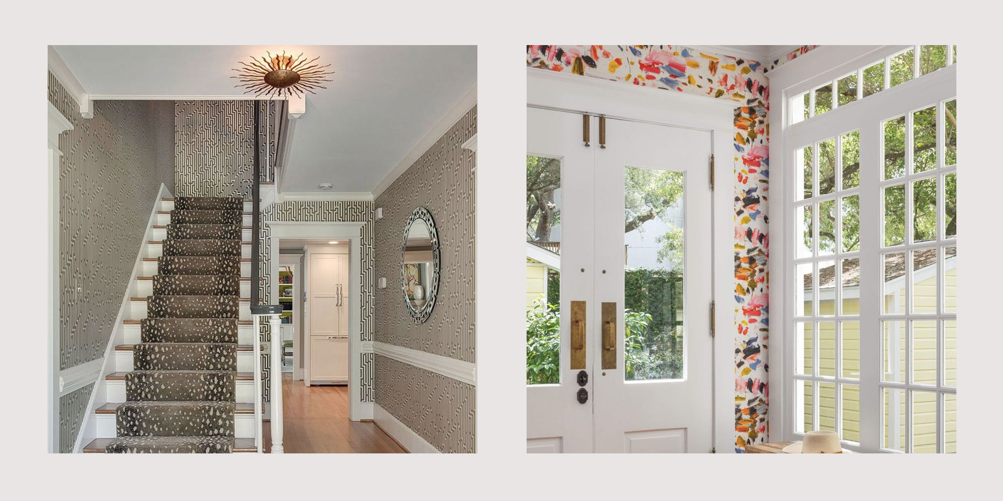 24 Wallpapered Foyers For A Gorgeous