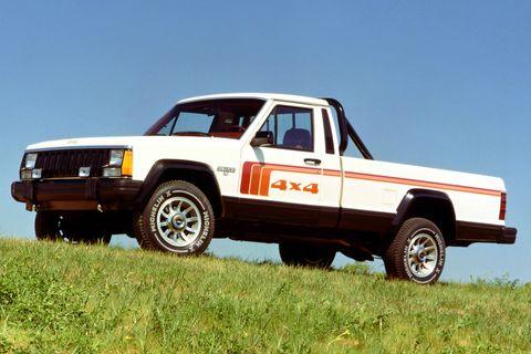 Land vehicle, Vehicle, Car, Pickup truck, Jeep, Truck, Jeep honcho, Automotive exterior, Jeep comanche, Sport utility vehicle,
