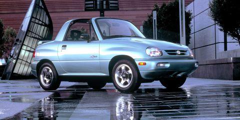 Land vehicle, Vehicle, Car, Mini SUV, Motor vehicle, Suzuki x-90, Suzuki, Sport utility vehicle, Hood, Hardtop,