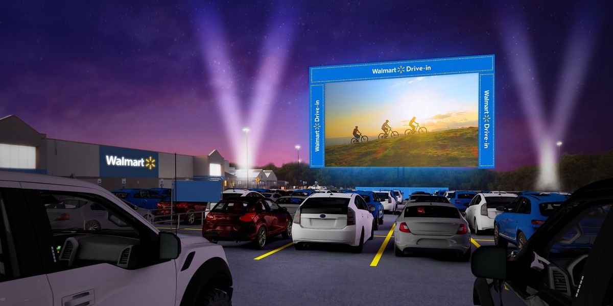 Hop In The Car, Because Walmart Is Turning 160 Store Parking Lots Into Drive-In Movie Theaters