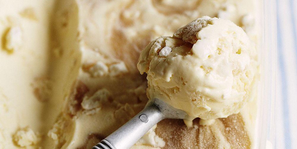 Indulgent gooseberry ice cream for a delicious dinner party dessert recipe