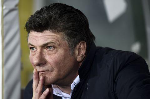 Walter Mazzarri, head coach of Torino FC, looks on prior to...
