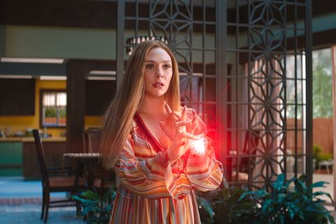 elizabeth olsen as wanda maximoff in marvel studios' wandavision