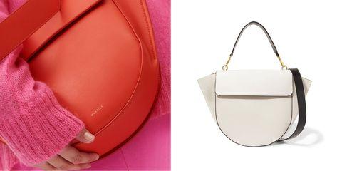 Bag, Handbag, Pink, Fashion accessory, Leather, Shoulder bag, Shoulder, Material property, Hobo bag, Luggage and bags,