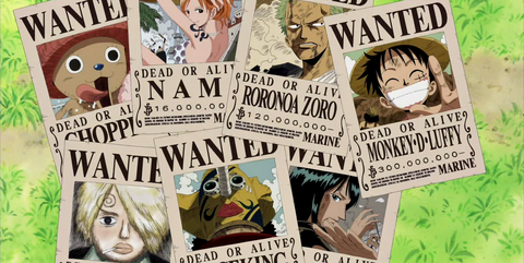 wanted one piece luffy