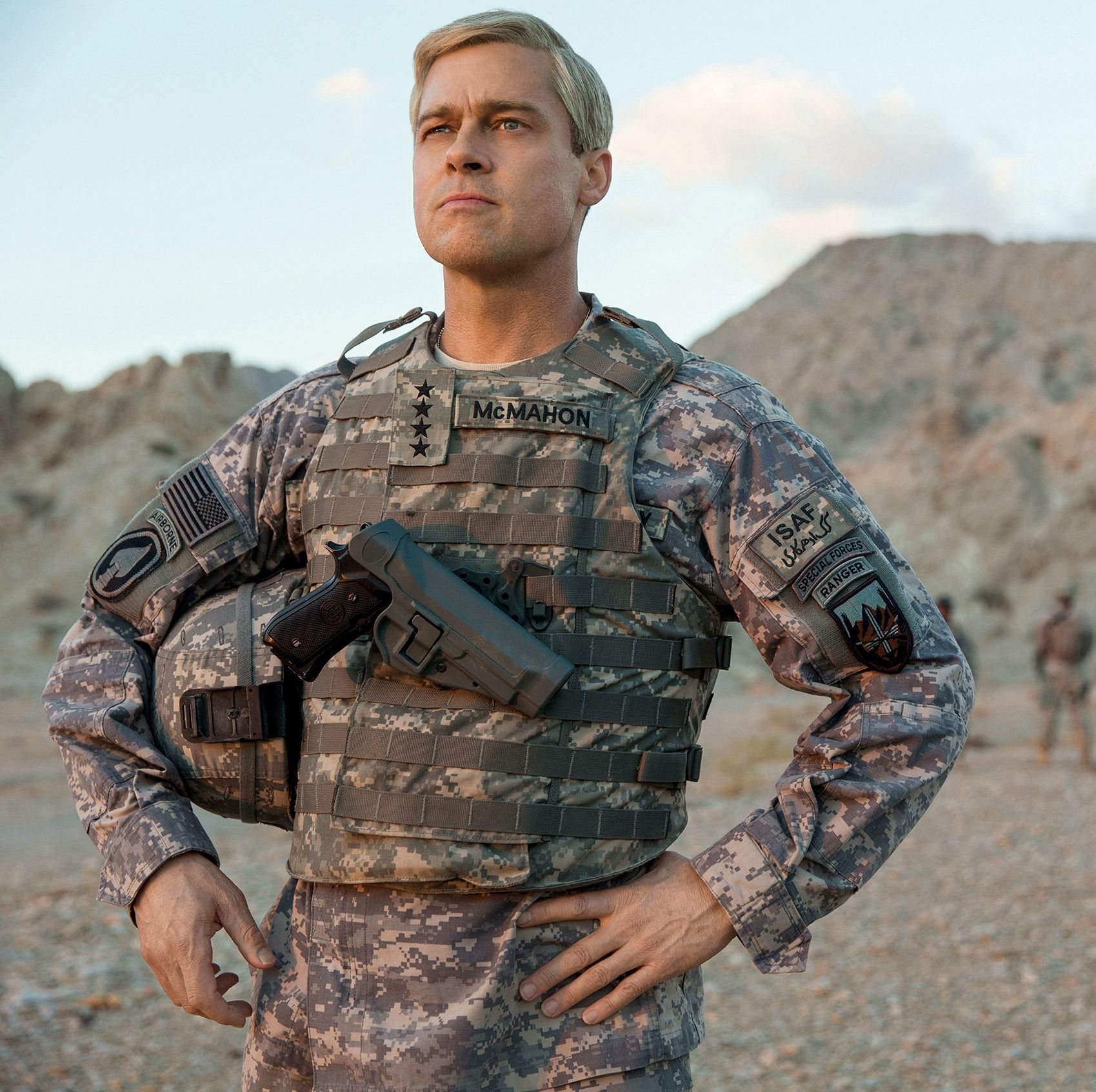 War Machine Brad Pitt plays a tough but wacky U.S. General who is sent to Afghanistan to clean up the military mess following eight years of war. Surrounded by exhausted and disillusioned soldiers, he finds himself up against bureaucratic obstacles in this dark war comedy.