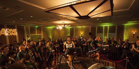 Michael Wardian breaking 50K treadmill record