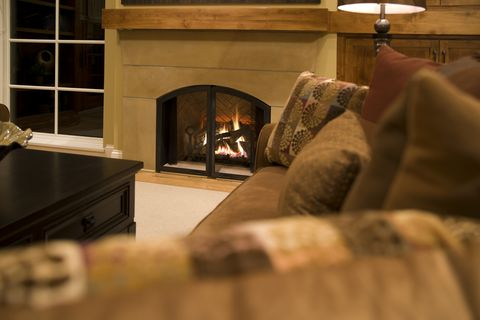 warm gas fireplace and relaxing living room