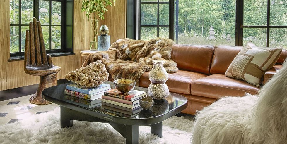 Living Room Decorating Ideas With Brown Leather Sofa stylish fall decorating ideas - cozy rooms for autumn