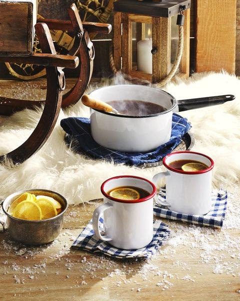 warm tea and cider punch