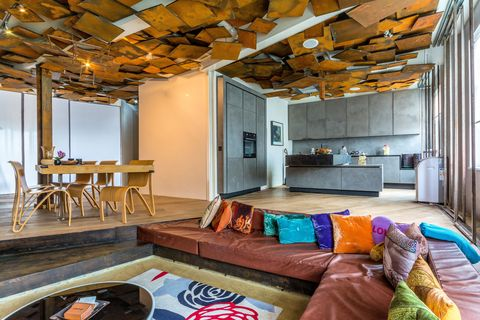 Modern art fans will love this West London loft-style apartment for sale