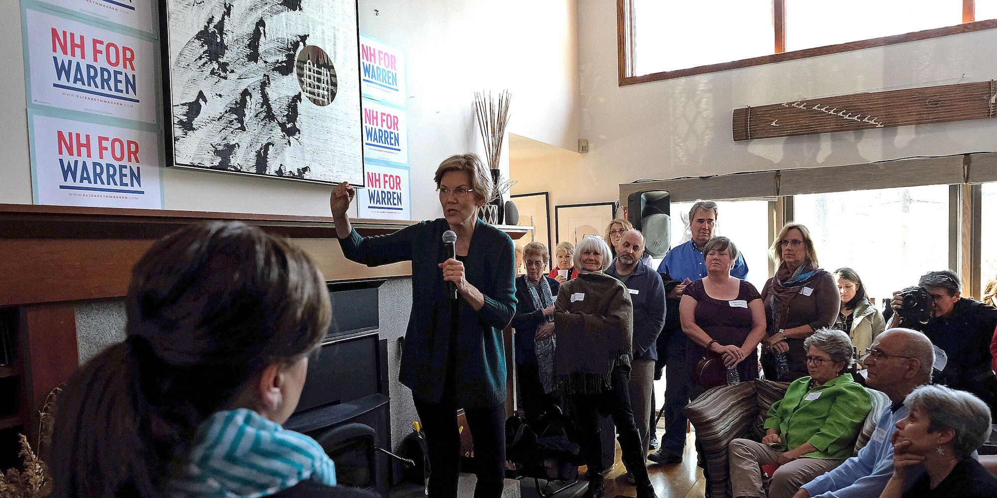 U.S. Senator And Presidential Candidate Elizabeth Warren Visits NH