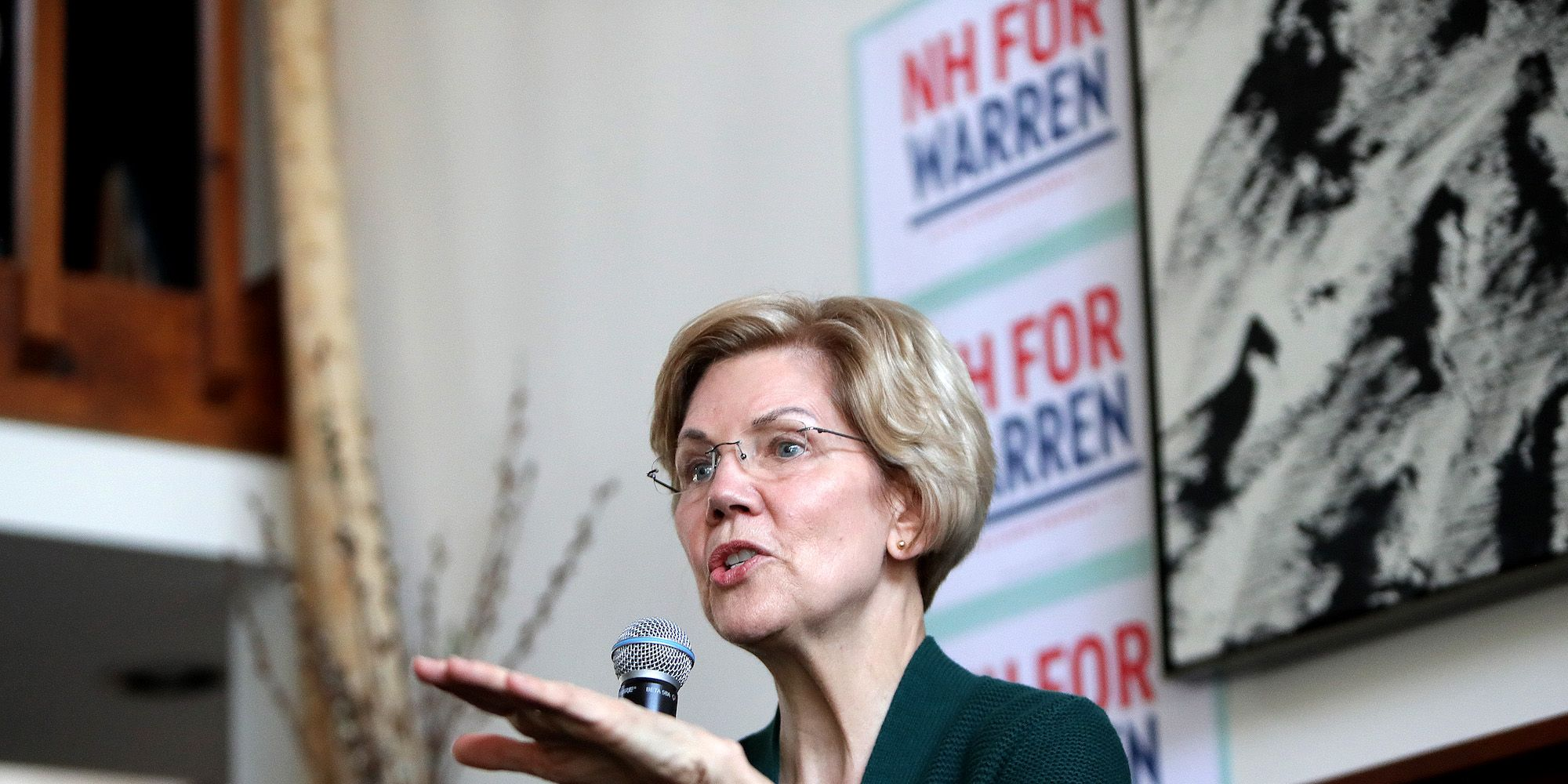 U.S. Senator And Presidential Candidate Elizabeth Warren Visits NH