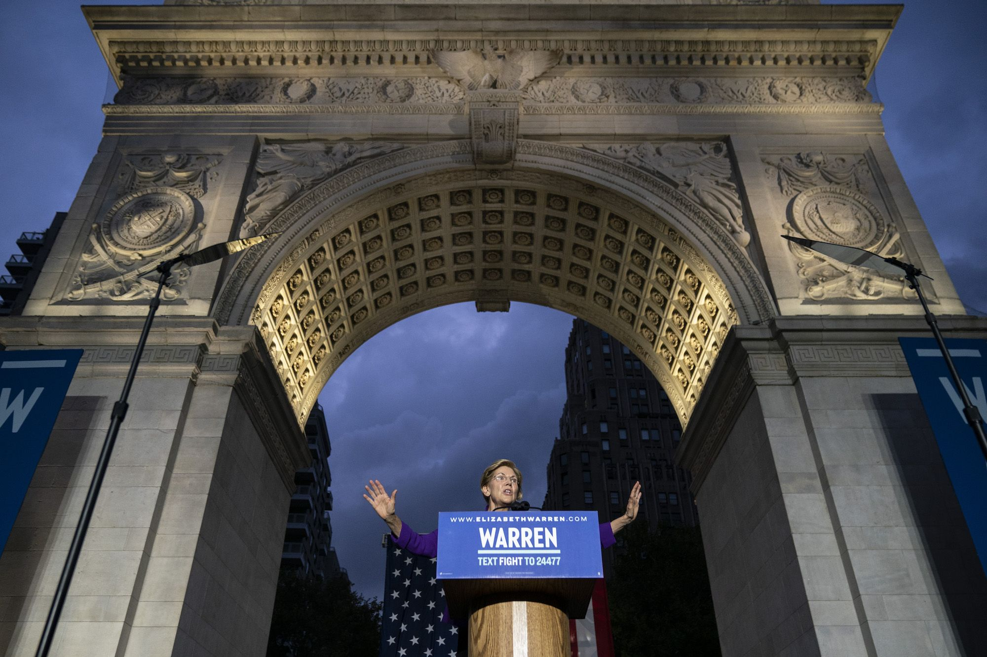 Elizabeth Warren Declared War on Corruption in the Heart of Lower Manhattan