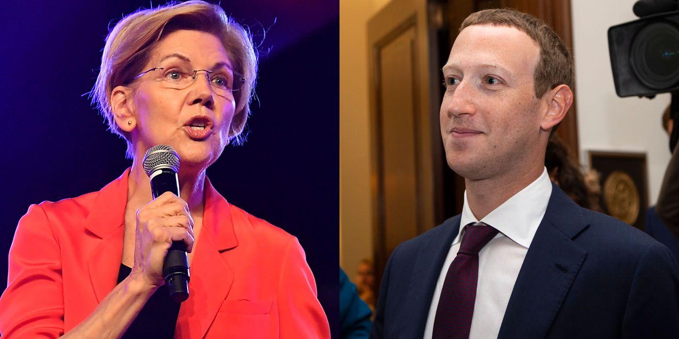 Elizabeth Warren Is Living Rent-Free in Mark Zuckerberg's Hoodie