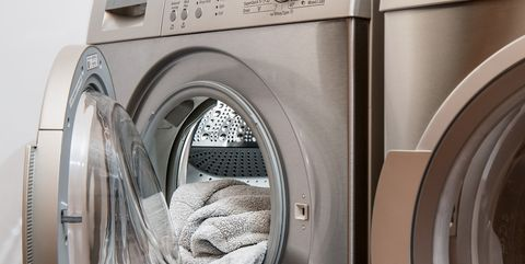 Washing machine, Laundry, Clothes dryer, Major appliance, Home appliance, Laundry room, Washing, Room, Dry cleaning, Arch,