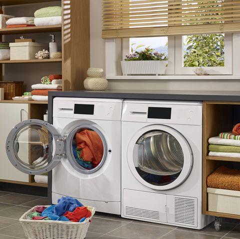Washing machine in the home