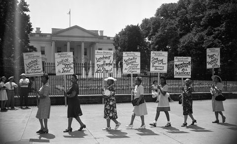 women at white house protest lynching