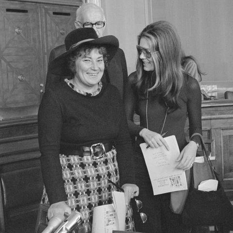 Politician Bella Abzug with Gloria Steinem and Jesse Jackson