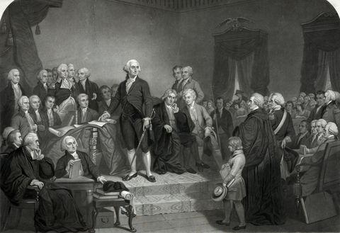 washington delivers his inaugural address