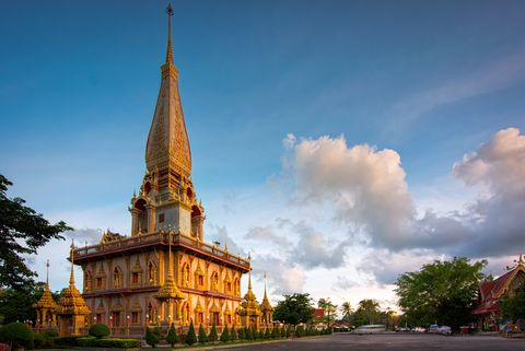 Wat Chalong or Chalong Temple The landmark of Phuket.