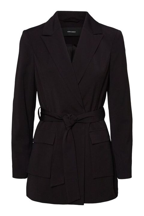 Clothing, Outerwear, Black, Coat, Jacket, Blazer, Sleeve, Overcoat, Trench coat, Collar,