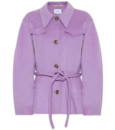 Clothing, Outerwear, Violet, Coat, Lilac, Sleeve, Purple, Pink, Jacket, Collar,