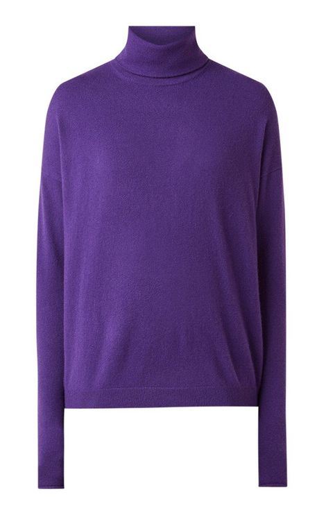 Clothing, Violet, Purple, Sleeve, Neck, Sweater, Long-sleeved t-shirt, Outerwear, T-shirt, Wool,