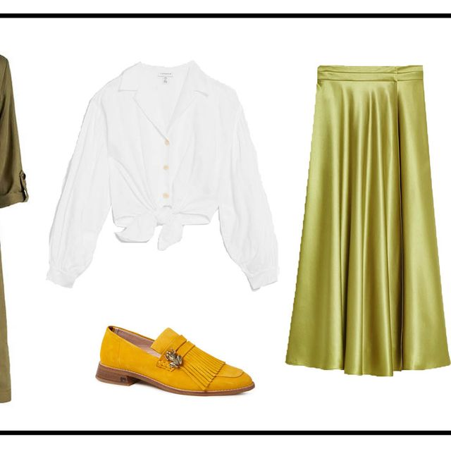 Clothing, Yellow, Fashion, Outerwear, Footwear, Dress, Costume design, Robe, Shoe, Style,