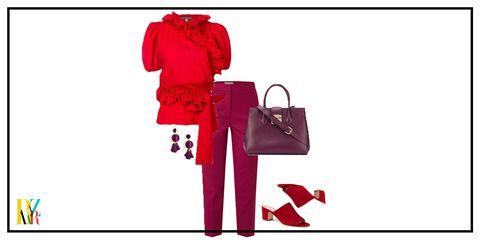 Red, Bag, Handbag, Footwear, Magenta, Fashion accessory, Tote bag, Carmine, Fashion illustration, Birkin bag,