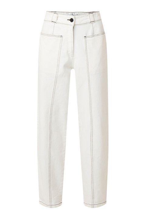 Clothing, White, Jeans, Denim, Trousers, Pocket, Suit trousers, Beige, Active pants, Sportswear,