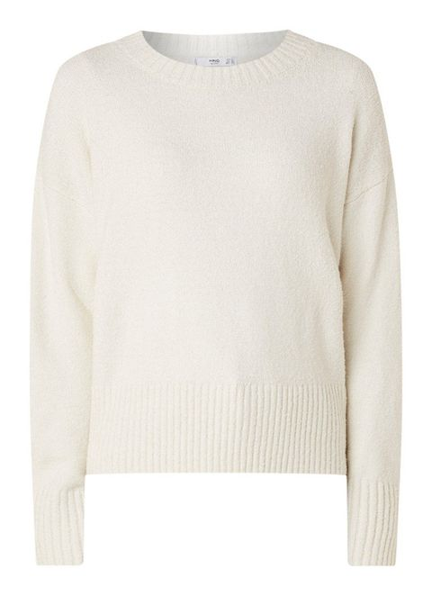 Clothing, White, Sweater, Outerwear, Sleeve, Beige, Jersey, Neck, Top, Wool,