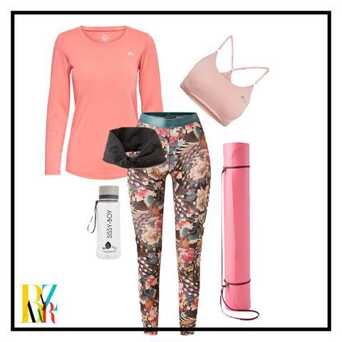 Clothing, Pink, Trousers, Footwear, Pajamas, Sleeve, Leggings, T-shirt, Tights, Sportswear,