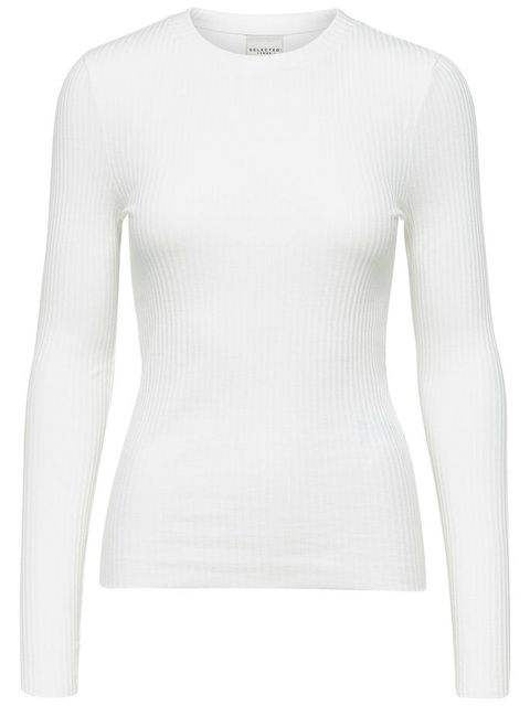 Clothing, Sleeve, White, Long-sleeved t-shirt, T-shirt, Neck, Sweater, Outerwear, Top, Shoulder,