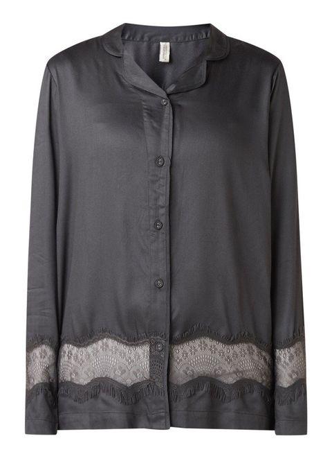 Clothing, Black, Outerwear, Sleeve, Blouse, Shirt, Button, Top, Collar, Jacket,