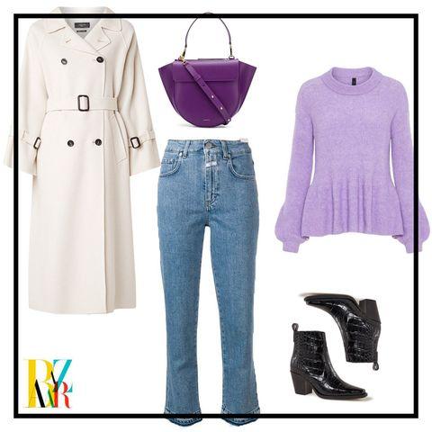 Clothing, Jeans, Purple, Footwear, Outerwear, Denim, Sleeve, Shoe, Pattern, Pattern,