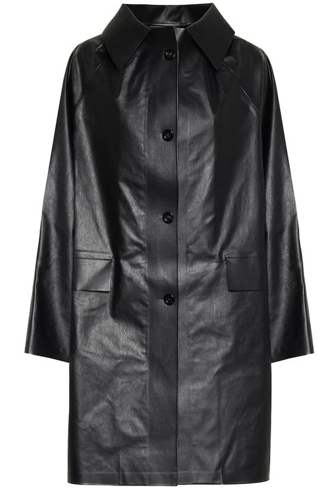 Clothing, Outerwear, Jacket, Coat, Leather, Sleeve, Leather jacket, Trench coat, Overcoat, Collar,