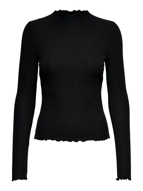 Clothing, Sleeve, Black, Outerwear, Long-sleeved t-shirt, Sweater, Neck, Shoulder, Top, Wool,