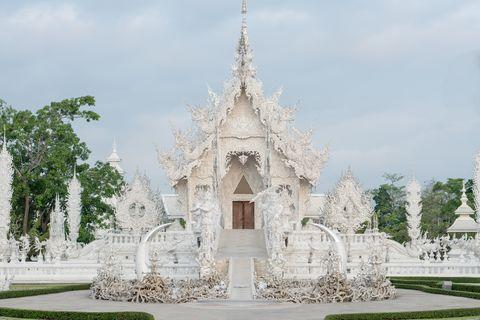 wat rong khun or white temple in chiang rai