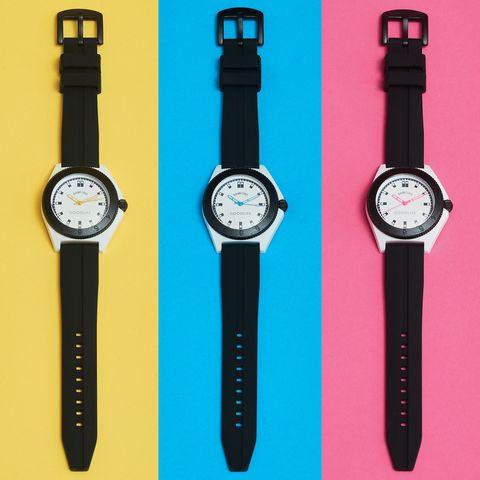 Watch, Analog watch, Watch accessory, Strap, Fashion accessory, Material property, Quartz clock,