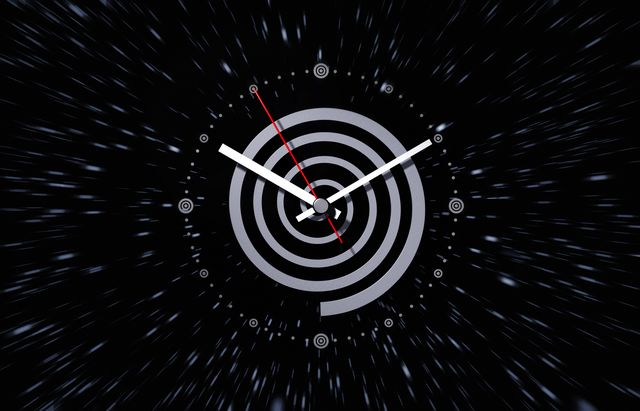 watch symbolizing time and space